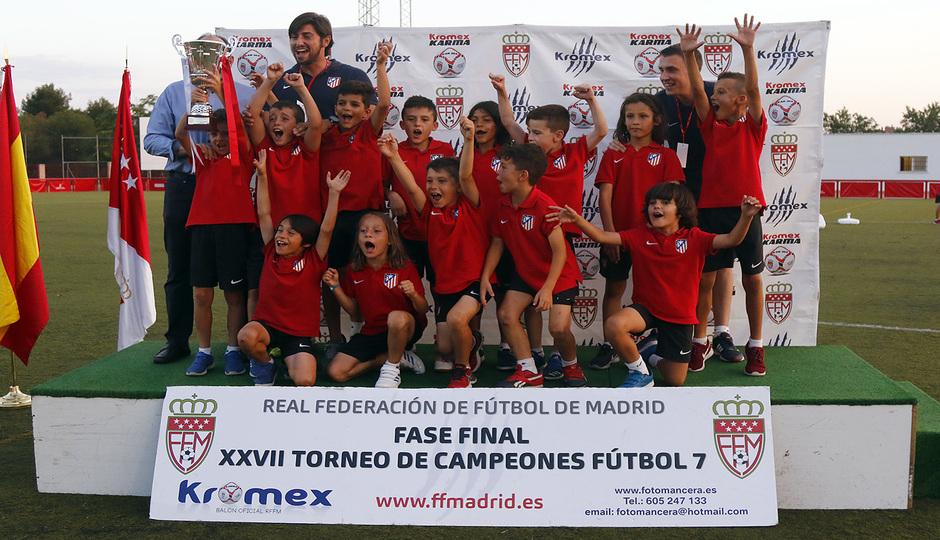 El Prebenjamín A, campeón de la Comunidad de Madrid