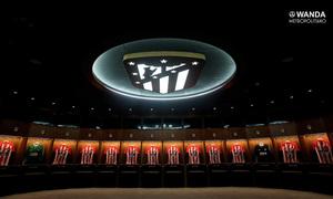 Así es el vestuario del primer equipo en el Wanda Metropolitano