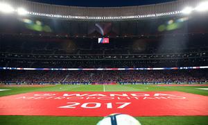 Ambientazo para estrenar el Wanda Metropolitano