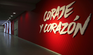 Take a look at the spectacular players' tunnel in the Wanda Metropolitano