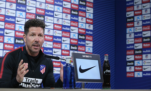 "Simeone: ""These type of matches always have tension, motivation and enthusiasm"""