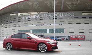 Espectacular Test Drive de Alfa Romeo en el Wanda Metropolitano