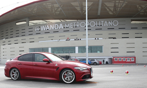 Amazing test drive with Alfa Romeo's cars in the Wanda Metropolitano