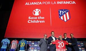 Presentado en el Wanda Metropolitano el acuerdo entre nuestro club y Save The Children