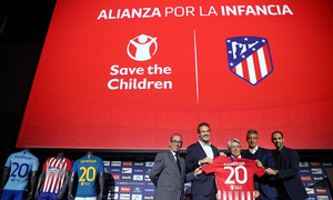 Atlético de Madrid, Save the Children present agreement at the Wanda Metropolitano