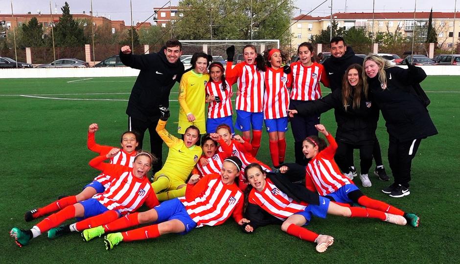 El Femenino Alevín A, flamante campeón de liga