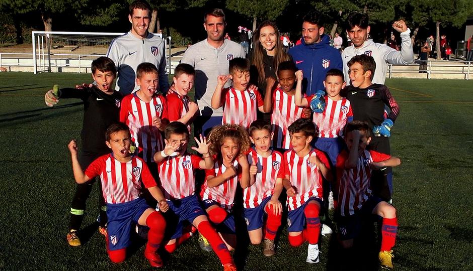El Atlético de Madrid Prebenjamín A se corona campeón liguero