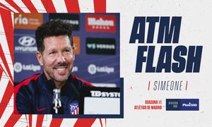 """Simeone: """"Vamos a enfrentar a un rival que siempre es complejo y duro"""""""