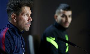 """Simeone: """"Será un partido duro contra un rival que trabaja muy bien"""""""