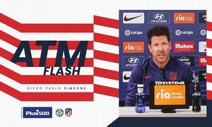 """Simeone: """"El Getafe está en un momento difícil, pero ha competido muy bien todos los partidos"""""""