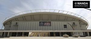 Club atl tico de madrid avances en la cubierta y el for Puertas wanda metropolitano