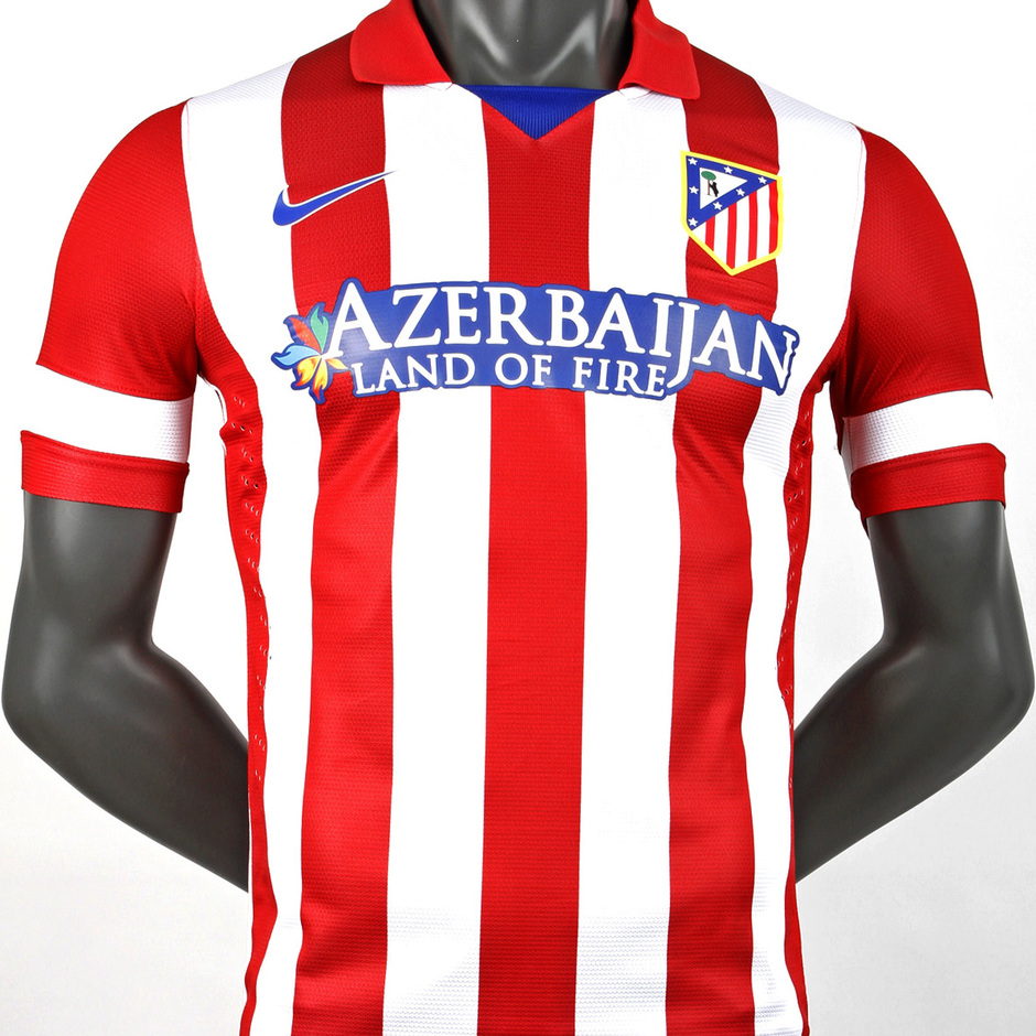 e3adf5370 Club Atlético de Madrid - A close up of our new kit