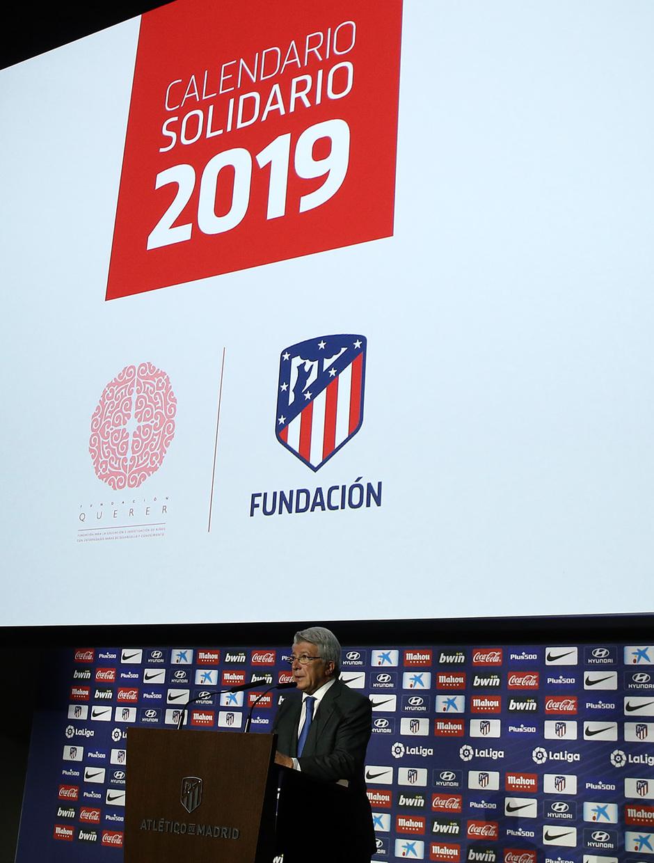 Calendario Atletico Madrid.Club Atletico De Madrid La Presentacion Del Calendario
