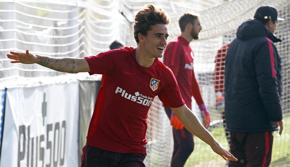 Club Atlético de Madrid - Last session before playing Málaga