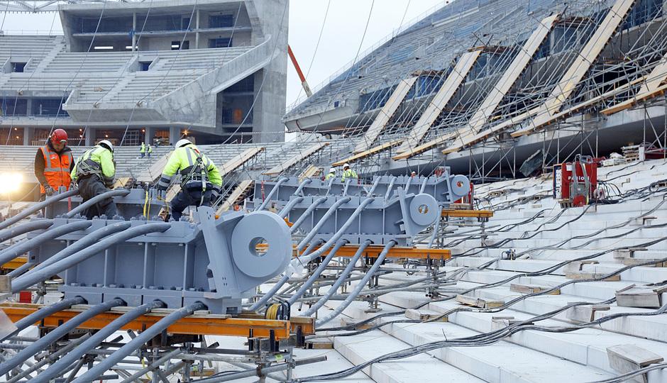 Resultado de imagen de construccion estadio wanda metropolitano