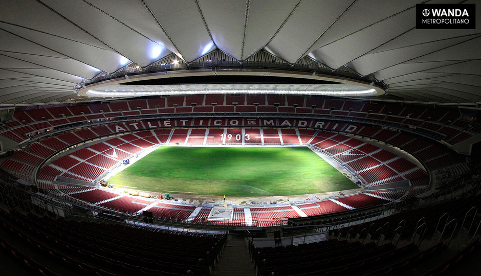 club atl tico de madrid the laying of the grass is finished. Black Bedroom Furniture Sets. Home Design Ideas