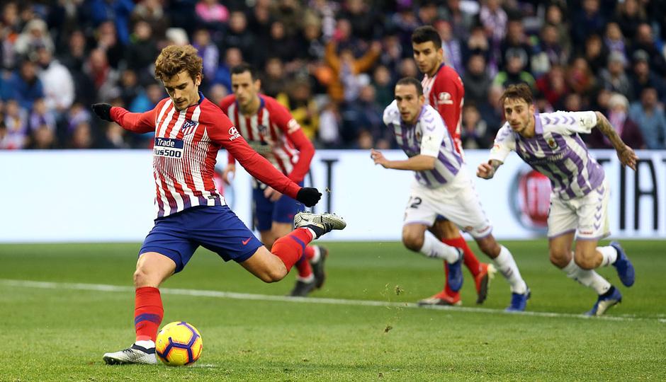 Griezmann, en su gol de penalti (Foto: ATM).