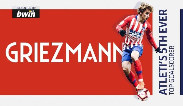 6d9086137 Club Atlético de Madrid · Web oficial - Griezmann surpasses Torres ...