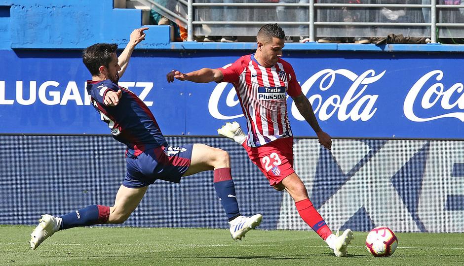Vitolo, en el duelo ante el Eibar (Foto: ATM).