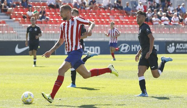 Darío Poveda, con el Atlético de Madrid B (Foto: ATM).