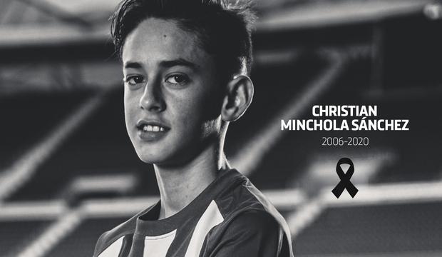 Christian Minchola jugaba en el Infantil C del Atlético de Madrid.