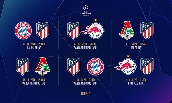 Calendario Ucl 2021 Club Atlético de Madrid · Web oficial   Atleti to face Bayern