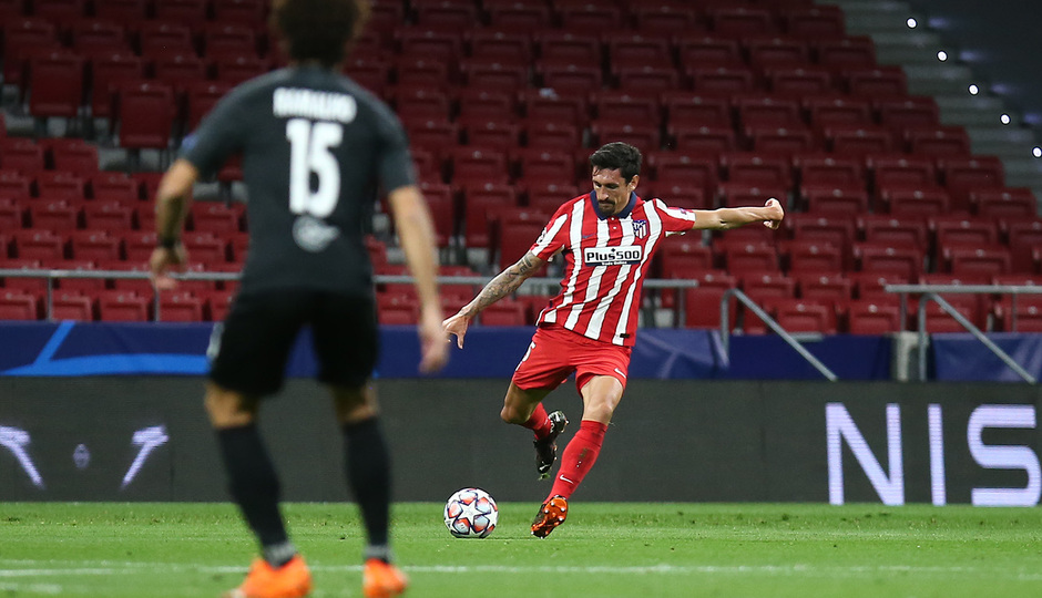 Savic, ante el Salzburgo (Foto: Atlético de Madrid).