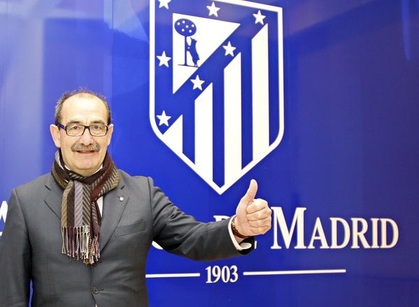 José Luis Capón, en una visita al Vicente Calderón (Foto: Atlético de Madrid).