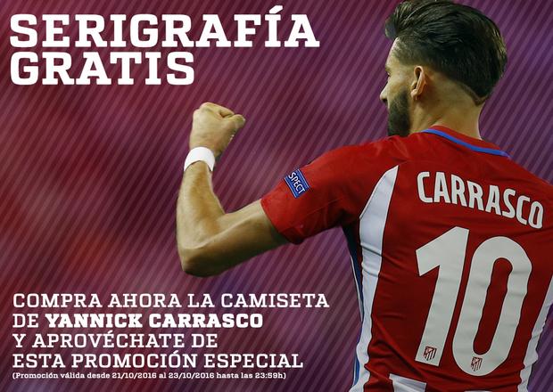 Serigrafía gratis de Carrasco por la compra de su camiseta hasta el domingo  23 de octubre 2c5835ef7be58
