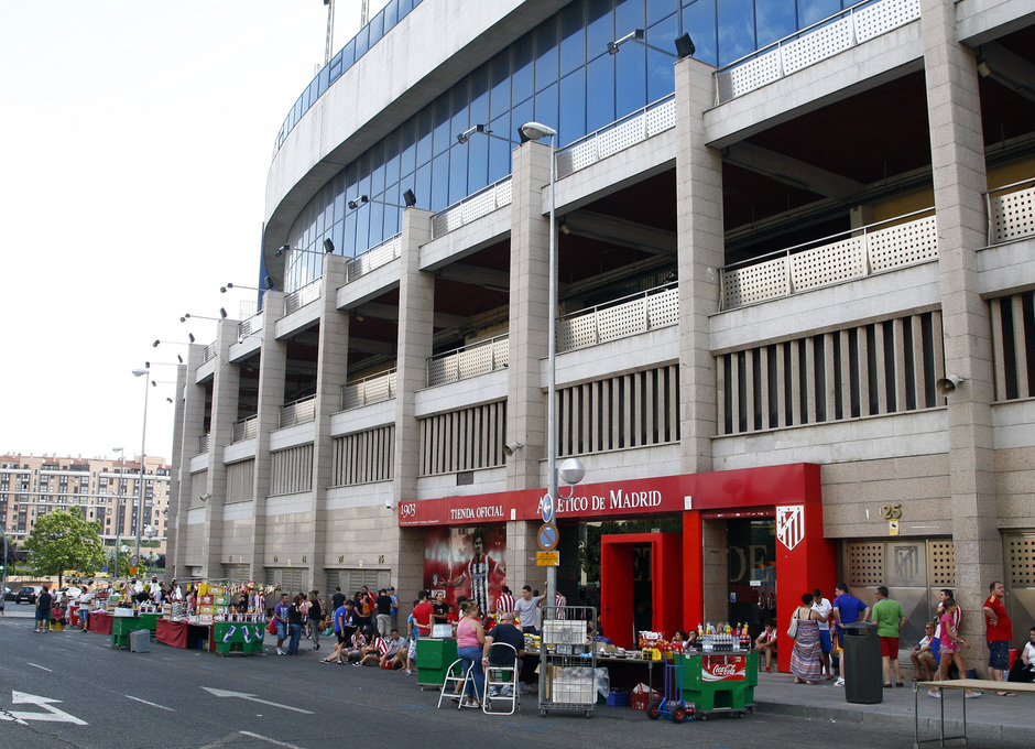 Club atl tico de madrid david villa es el 39 9 39 del atleti for Puerta 27 estadio nacional