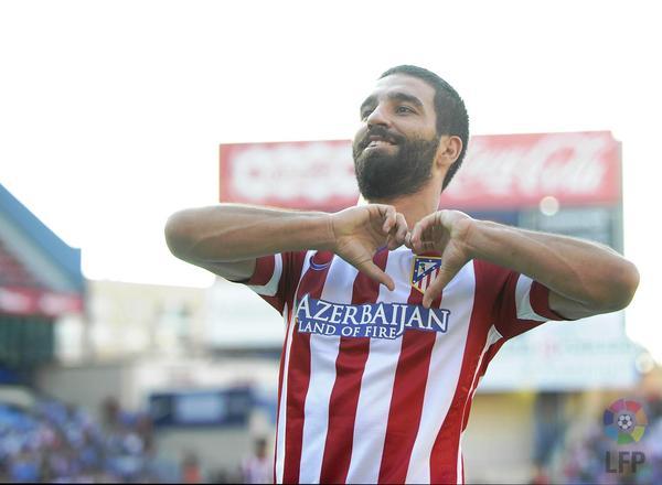 Arda Turan celebra un gol con el Atlético de Madrid (Foto: LaLiga).