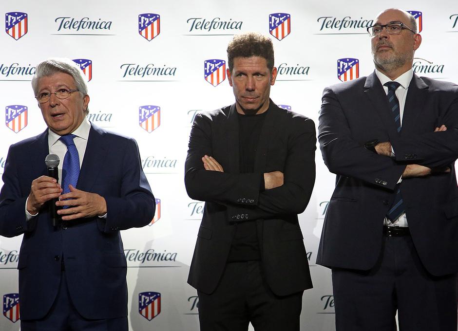 Simeone, en el acto del club (Foto: ATM).