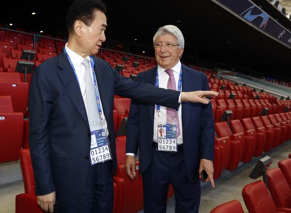 Club Atlético de Madrid - Wang Jianlin visits the Wanda