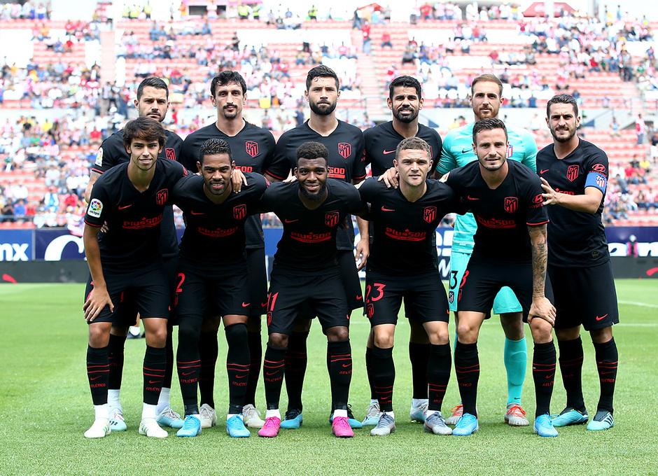 El once titular del Atlético de Madrid ante el Atlético San Luis (Foto: ATM).