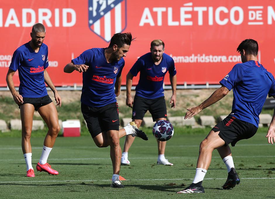 Koke, en la sesión del viernes del Atlético de Madrid (Foto: ATM).